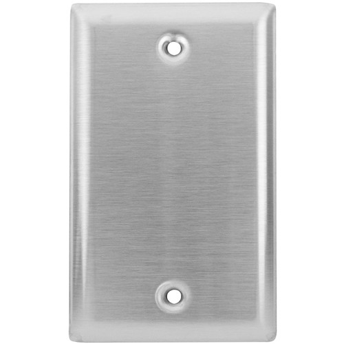 Lowell Manufacturing Wall Plate-Stainless Steel, 1-Gang, Blank