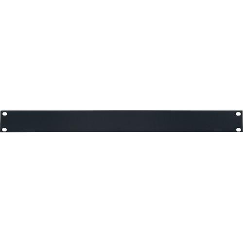 Lowell Manufacturing Rack Panel-Blank-1U, 14-Gauge Flat Steel (Black)