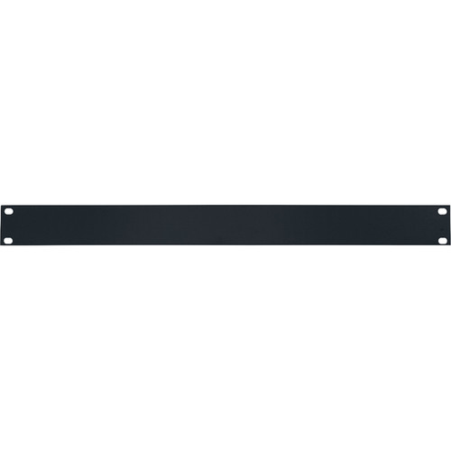 Lowell Manufacturing Rack Panel-Blank-1U, 14-Gauge Flat Steel (Black)
