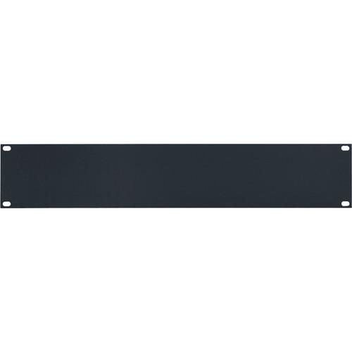 Lowell Manufacturing Rack Panel-Blank-2U, 14-Gauge Flat Steel (Black)