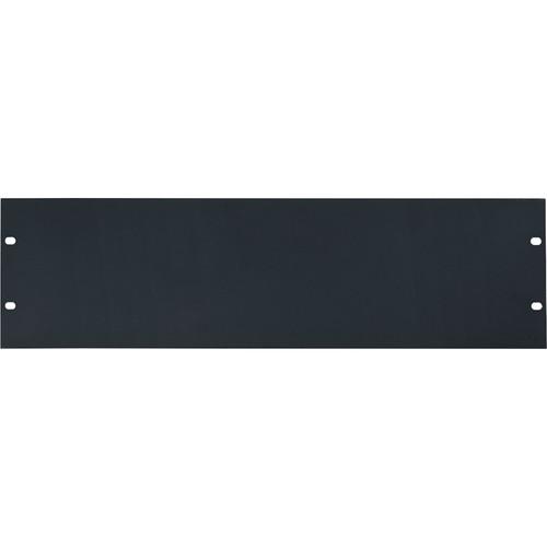 Lowell Manufacturing Rack Panel-Blank-3U, 14-Gauge Flat Steel (Black)