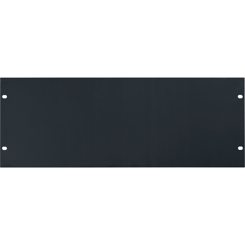 Lowell Manufacturing Rack Panel-Blank-4U, 14-Gauge Flat Steell (Black)
