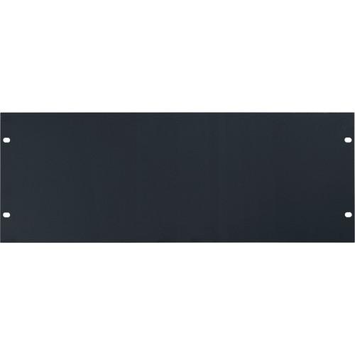 Lowell Manufacturing Rack Panel-Blank-4U, 14-Gauge Flat Steell (Black / 6-Pack)