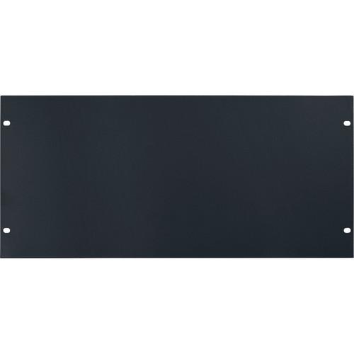 Lowell Manufacturing Rack Panel-Blank-5U, 14-Gauge Flat Steel (Black)