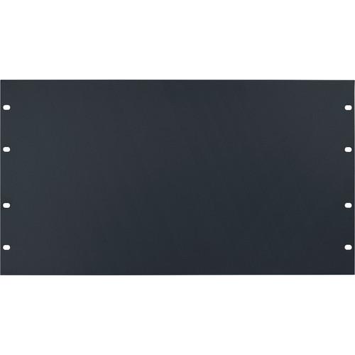 Lowell Manufacturing Rack Panel-Blank-6U, 14-Gauge Flat Steel (Black)