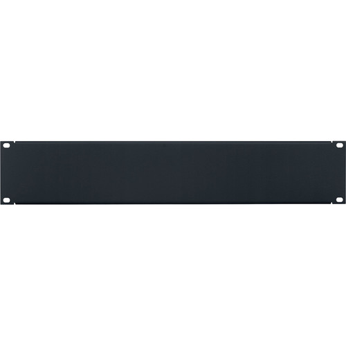 Lowell Manufacturing Steel Economy Panel with Flange (2 RU, Black)