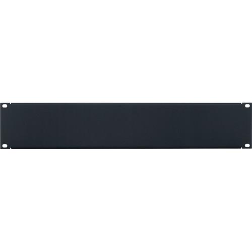 Lowell Manufacturing Rack Panel-Blank-2U, 18-Gauge Flanged Steel (Black / 12-Pack)
