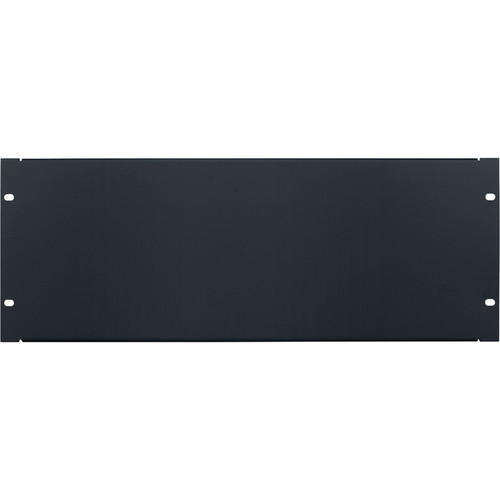Lowell Manufacturing Rack Panel-Blank-4U, 18-Gauge Flanged Steell (Black)