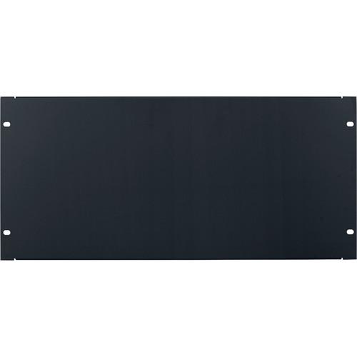 Lowell Manufacturing Rack Panel-Blank-5U, 18-Gauge Flanged Steel (Black)