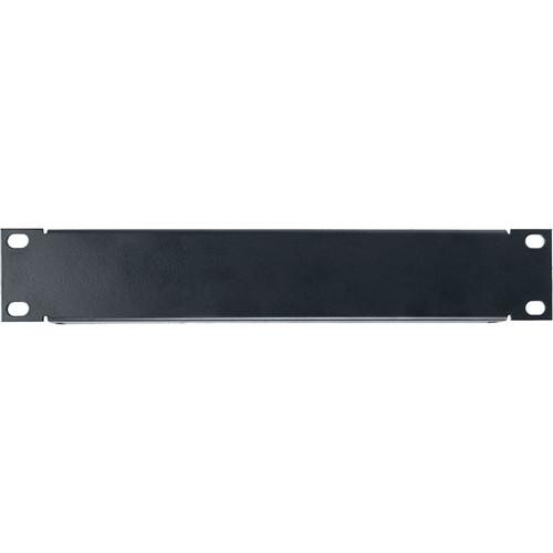 Lowell Manufacturing Half Rack Panel, 1U, 18-Gauge Flanged Steel (Black)
