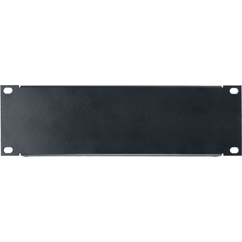 Lowell Manufacturing Half Rack Panel, 2U, 18-Gauge Flanged Steel (Black)