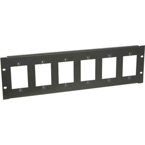 Lowell Manufacturing SG6P-3 Rackmount Panel for Six 1-Gang Devices (3 RU)
