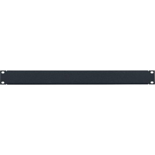 Lowell Manufacturing Rack Panel-Blank-1U, 16-Gauge Flanged Steel (Textured Black)