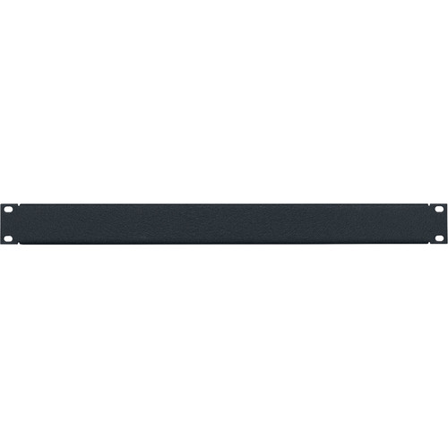 Lowell Manufacturing Rack Panel-Blank-1U, 16-Gauge Flanged Steel (Textured Black/12-Pack)