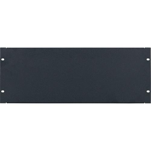 Lowell Manufacturing Rack Panel-Blank-4U, 16-Gauge Flanged Steel (Textured Black)