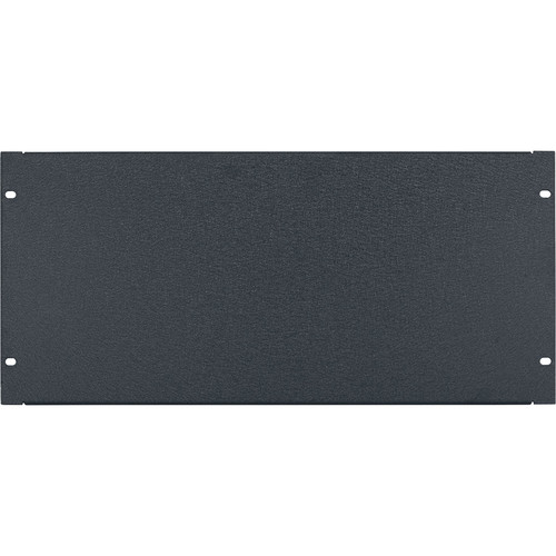 Lowell Manufacturing Rack Panel-Blank-5U, 16-Gauge Flanged Steel (Textured Black)