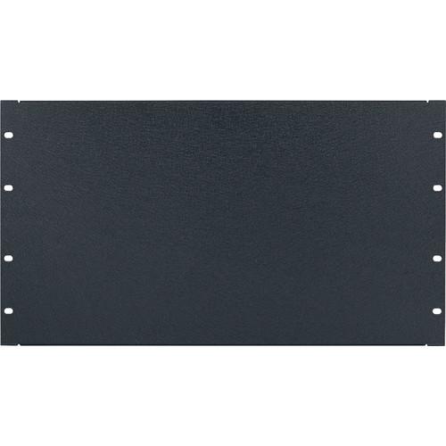 Lowell Manufacturing Rack Panel-Blank-6U, 16-Gauge Flanged Steel (Textured Black)