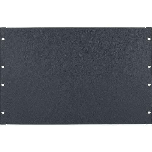 Lowell Manufacturing Rack Panel-Blank-7U, 16-Gauge Flanged Steel (Textured Black)