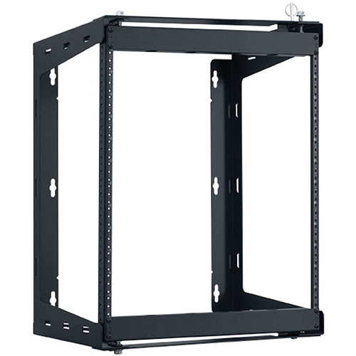 "Lowell Manufacturing Rack-Swing Gate-12U, 12""Deep, 1-Pair  Fixed Rails (Black)"