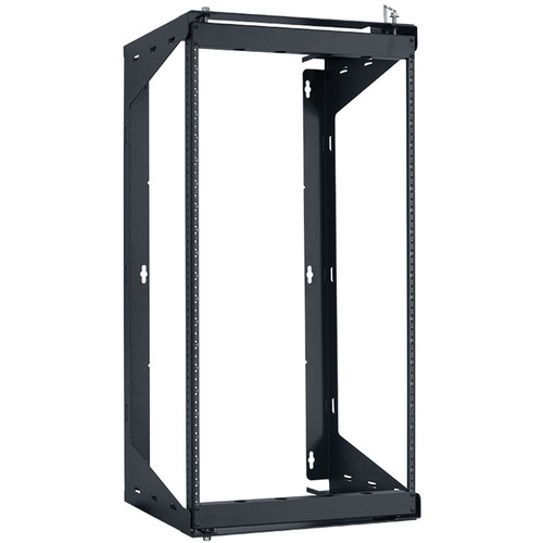 "Lowell Manufacturing Rack-Swing Gate-20U, 12""Deep, 1-Pair  Fixed Rails (Black)"