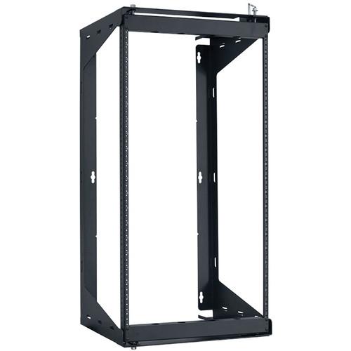"Lowell Manufacturing Rack-Swing Gate-20U, 12""Deep, 1-Pair  Fixed Rails (Black)"