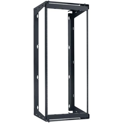 "Lowell Manufacturing Rack-Swing Gate-25U, 24""Deep, 1-Pair  Fixed Rails (Black)"