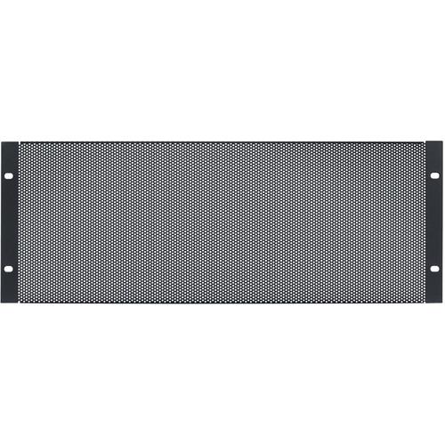 Lowell Manufacturing Rack Panel-Vented-4U, 18-Gauge Flanged Perforated Steel, 6-Pack (Black)