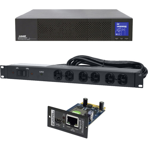 Lowell Manufacturing Bundle:  UPS9-2000 + UPS-SNMP + UPS-XBDM-20RCD
