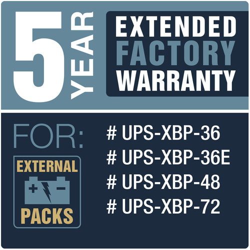 Lowell Manufacturing 5-Year Extended Warranty for UPS-XBP-36, UPS-XBP-36E, UPS-XBP-48, UPS-XBP-72