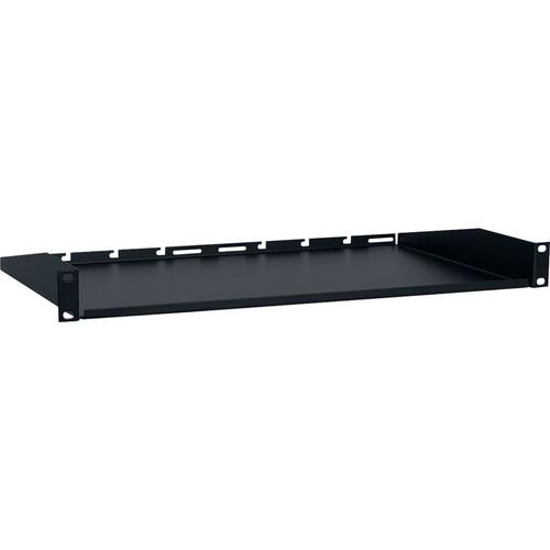 "Lowell Manufacturing US Rack Utility Shelf-1U, 10"" Depth , 12-Pack (Black)"
