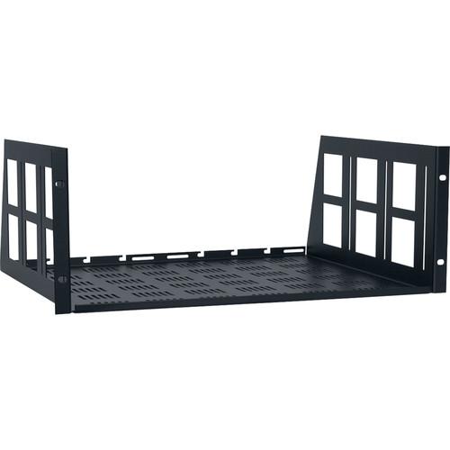 "Lowell Manufacturing Vented Rack Utility Shelf-4U, 14""Depth (Black)"