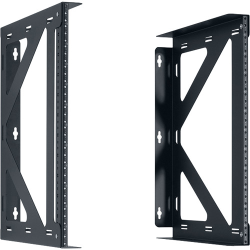 "Lowell Manufacturing Rack-Variable Width-12U, 18"" Deep, Fixed Rails -1 Pair (Black)"
