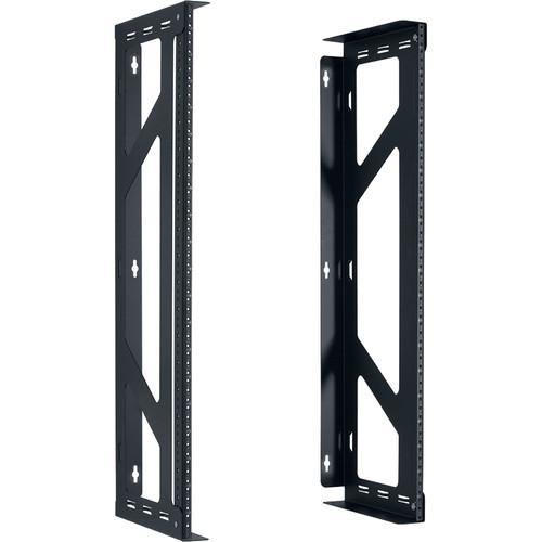 "Lowell Manufacturing Rack-Variable Width-20U, 12"" Deep, Fixed Rails -1 Pair (Black)"