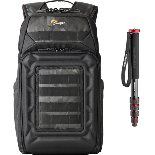 Lowepro DroneGuard BP 200 Backpack for DJI Mavic Pro/Air with Manfrotto Monopod