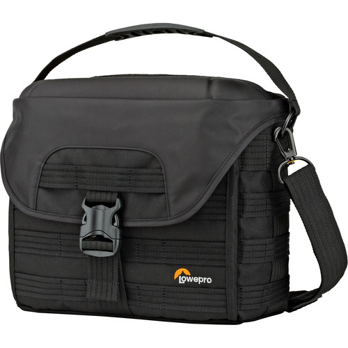 Lowepro ProTactic SH 180 AW Shoulder Bag for DSLR Camera & Lenses (Black)