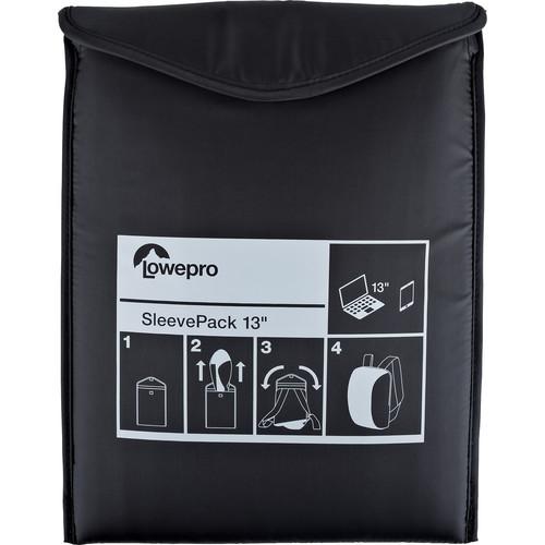 Lowepro SleevePack 13 Packable Laptop Sleeve (Black)