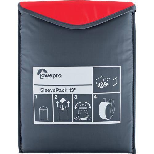 Lowepro SleevePack 13 Packable Laptop Sleeve (Red/Gray)