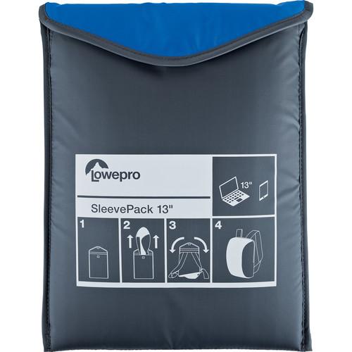 Lowepro SleevePack 13 Packable Laptop Sleeve (Blue/Gray)