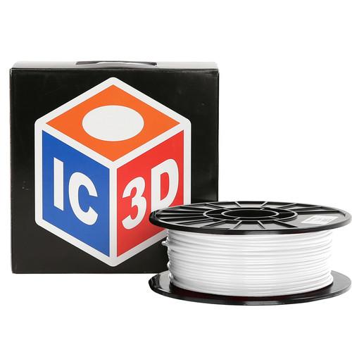 LulzBot 3mm IC3D PETG Filament (1 kg, White)