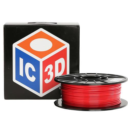 LulzBot 3mm IC3D PETG Filament (1 kg, Red)
