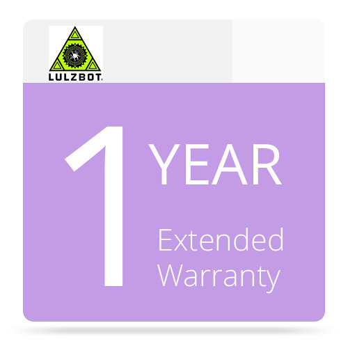LulzBot 1-Year Extended Warranty for the TAZ 6 3D Printer