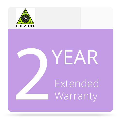 LulzBot 2-Year Extended Warranty for the TAZ 6 3D Printer