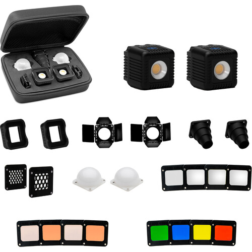 Lume Cube 2.0 Professional 22-Piece LED Lighting Kit for Camera Video & Photography