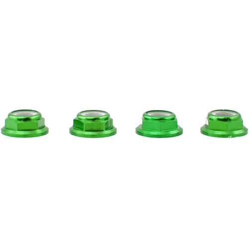 Lumenier M5 Low-Profile Aluminum Lock Nut (Pack of 4 CCW, Green)