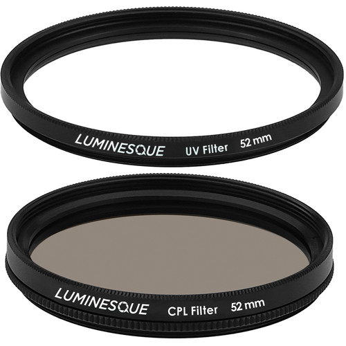 Luminesque 52mm Circular Polarizer and UV Slim PRO Filter Kit