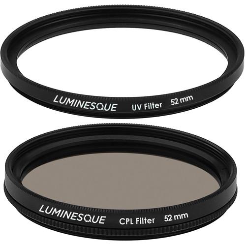 Luminesque 52mm Circular Polarizer and UV Slim PRO Filter Kit