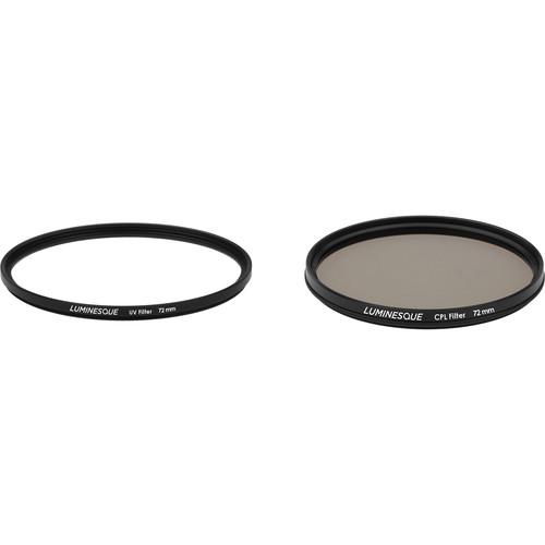 Luminesque 72mm Circular Polarizer and UV Slim PRO Filter Kit