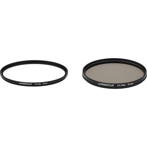 Luminesque 72mm Circular Polarizer and UV Slim PRO Filter Kit