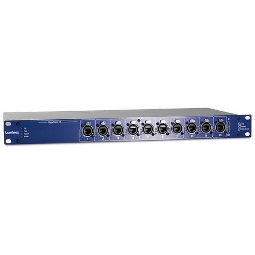 Luminex GigaCore 12 Gigabit Ethernet Switch with 160W PoE Supply (12 RJ45 Ports)