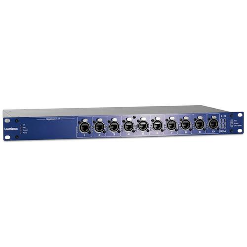 Luminex GigaCore 14R Gigabit Ethernet Switch (12 RJ45 Ports, 2 SFP Ports)